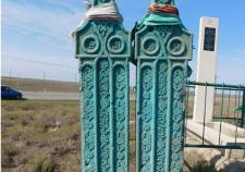 Могильные плиты героев кумыкского эпоса Абия и Абдулатипа Джамбулатовых в Камбулате