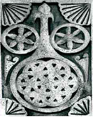 Шамхальская эмблема на могиле Муртазали шамхала сына Махди (фото И.Ханмурзаева).